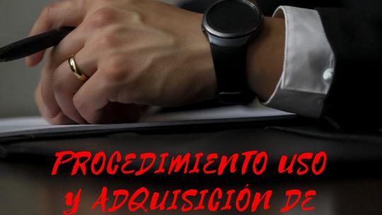 Procedimiento para el uso y adquisición de EPIs