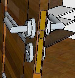 sketchup detalle puerta