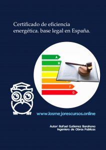 certificado de eficiencia energética base legal en España