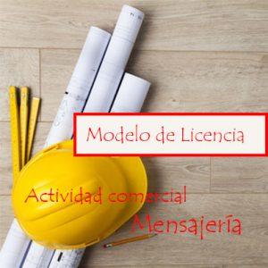 licencia de actividad comercial mensajería